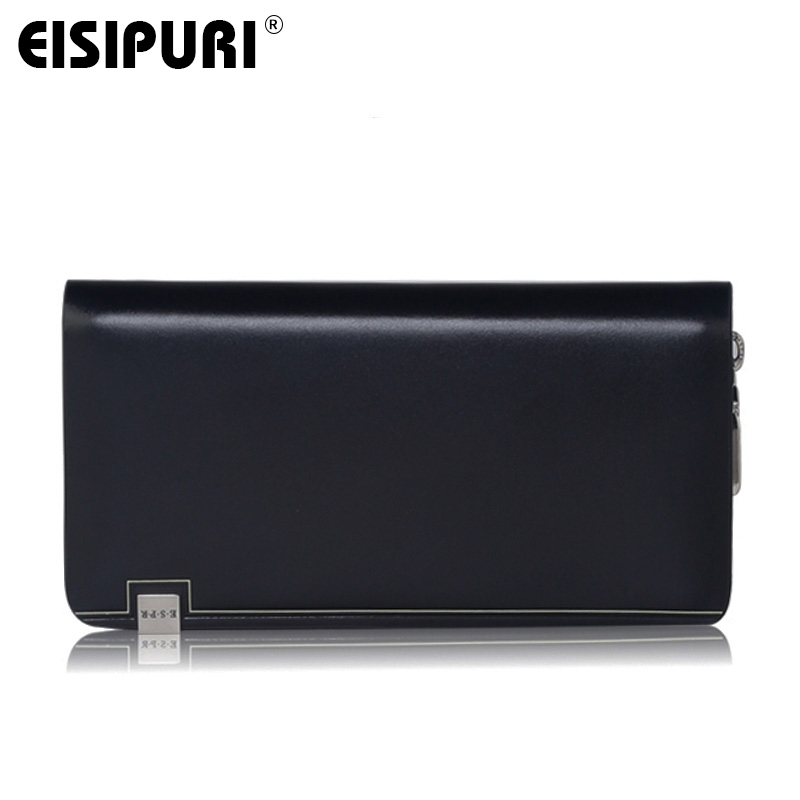 Luxury Brand Genuine font b Leather b font Men Wallets Business Men Clutch Bags Casual Male