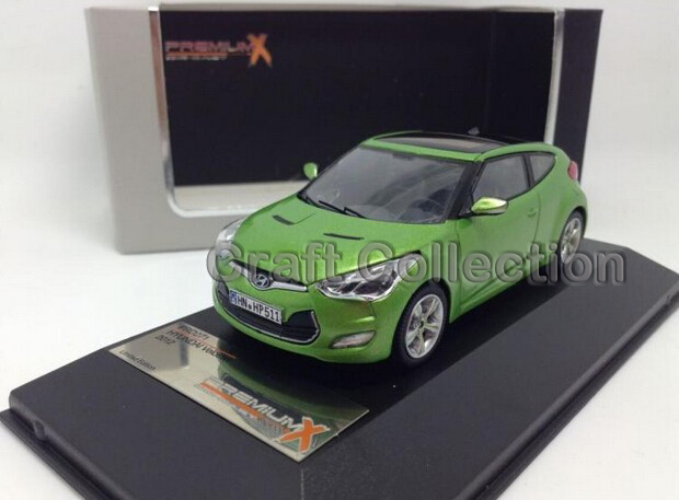 ФОТО Green 1:43 HYUNDAI Veloster Diecast Model MINICAR DIECAST TOY car Miniature Display case included Front door