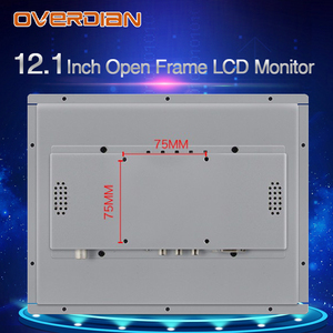 """Image 5 - 12 """"인치 디스플레이 1400*1050 산업용 LCD 모니터 VGA/DVI/USB 인터페이스 고해상도 금속 쉘 쿨 저항 터치 스크린"""