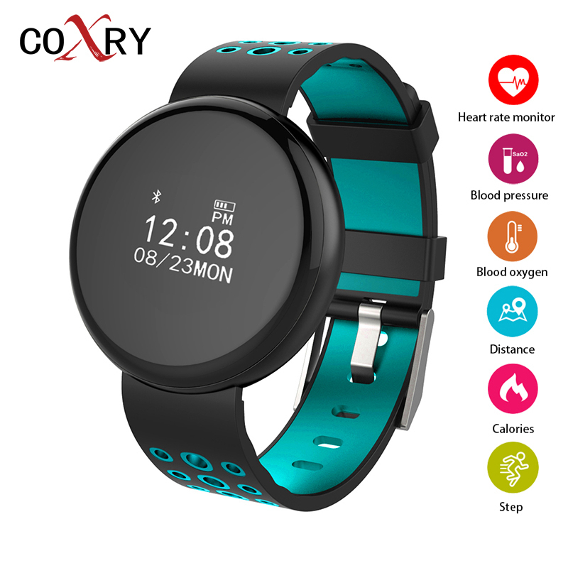 COXRY Fitness Smart Watch Women Bluetooth Smart Bracelet Blood Pressure Measurement Heart Rate Monitor Step Counter Sports Watch coxry fitness smart watch women digital watches blood pressure sports heart rate pedometer sleep led calorie counter wrist watch