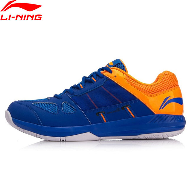 Li-Ning Men's PROTECTOR Badminton Training Shoes Wearable Anti-Slippery LiNing Breathable Sport Shoes Sneakers AYTN043 XYY088