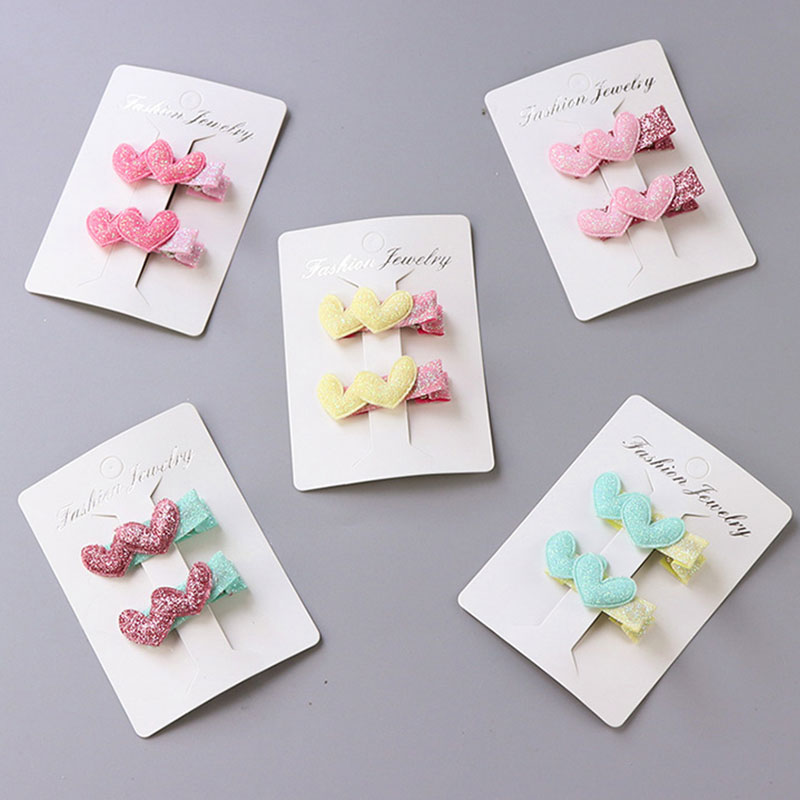 2PCS/Pack Baby Girls Cute Love Crown Flower Star Small Hairpins BB Hair Clips Children Barrettes Headbands Kids Hair Accessories lysumduoe girl bb hair clips cute candy color hairgrip random barrette flower mix barrettes hairpin kids girls hair accessories