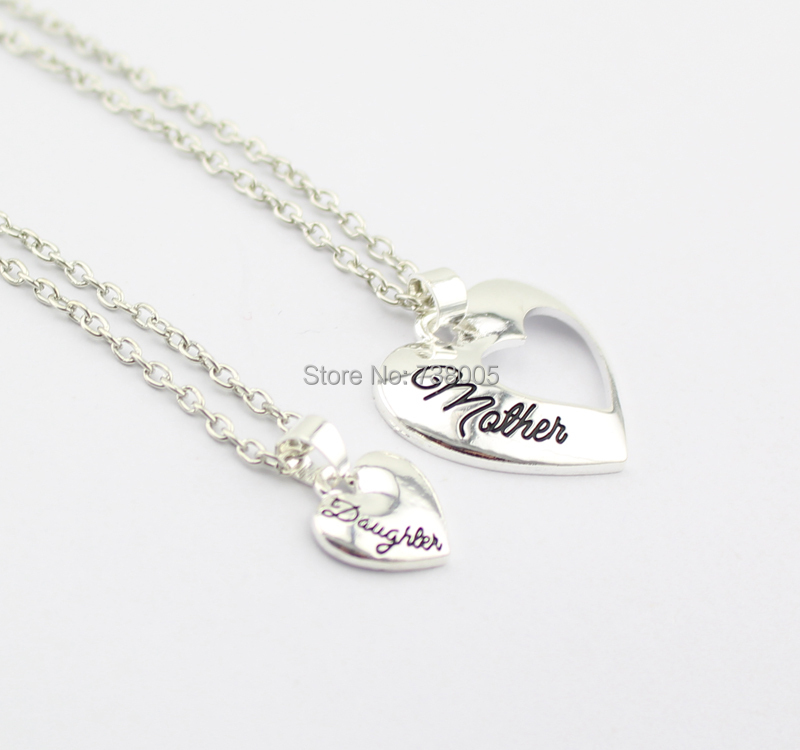 2015 new fashion mother day gifts jewelry mother daughter heart