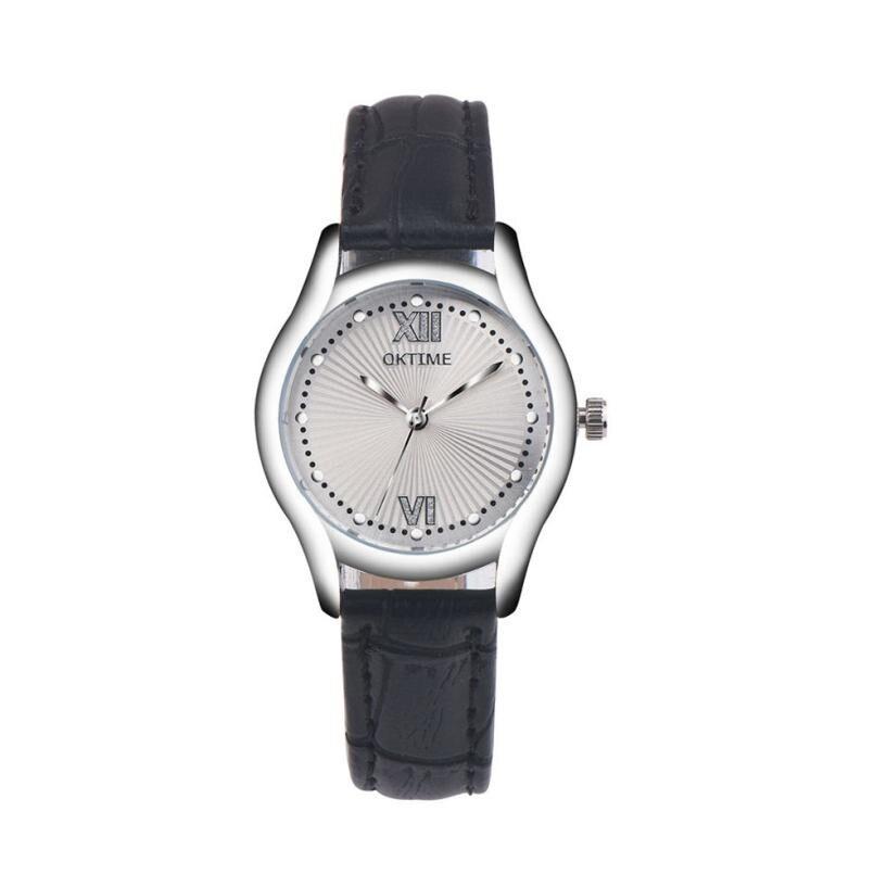 Fashion Leather Women Business Watches Ladies Diamond Big Dial Watch Womens Luxury Retro Design Quartz Wrist Watch Relogio #Zer