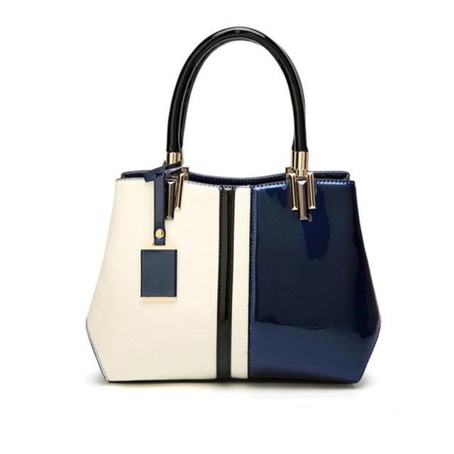 Patent Leather Women S Handbags 2018 New Purse Female Shoulder Bag Top Handle Wedding Handbag