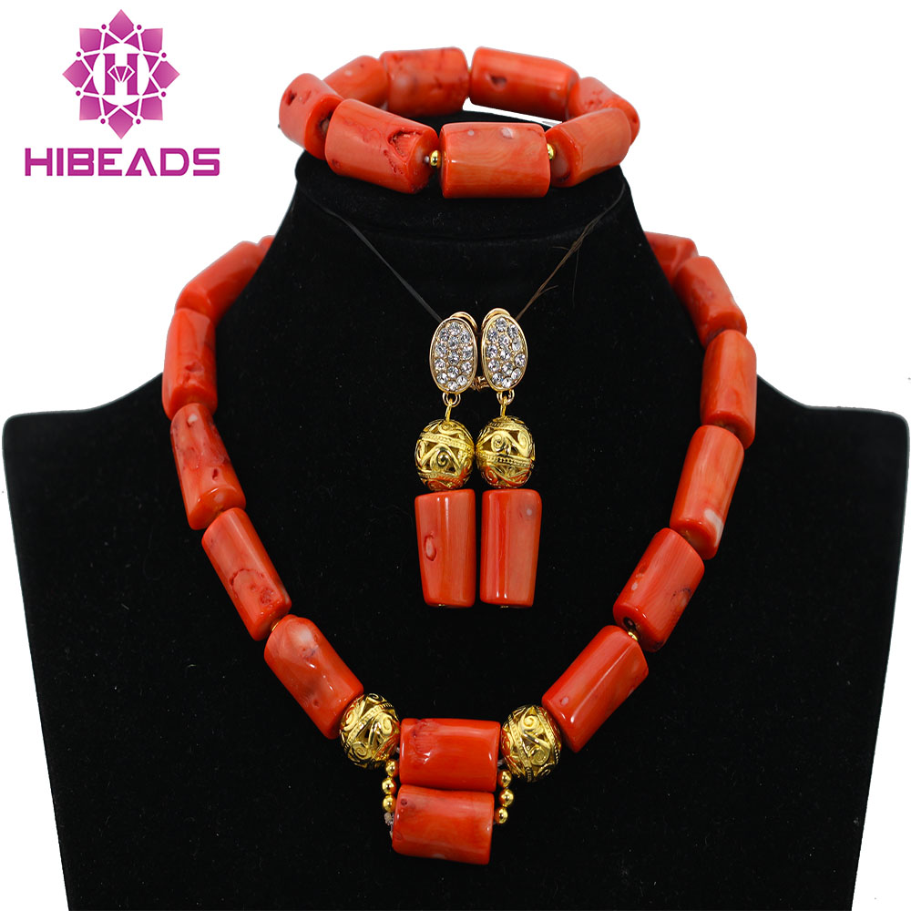 Pretty Coral Pendant Necklace Set New Wedding African Jewelry Set Bride Gift Free Shipping CNR443Pretty Coral Pendant Necklace Set New Wedding African Jewelry Set Bride Gift Free Shipping CNR443