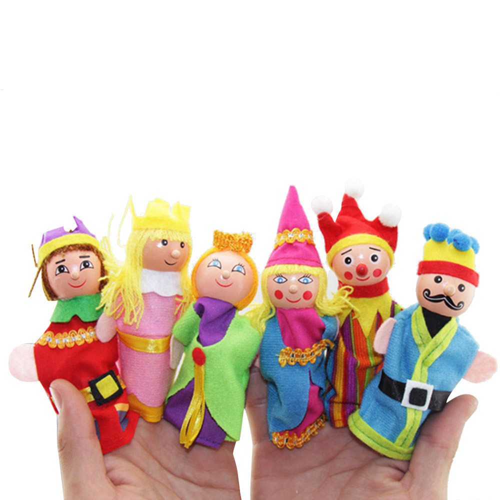 NEW 6 Pcs Finger Family Puppets Set Mini Plush Baby Toy Boys Girls Finger Puppets Educational Story Hand Puppet Cloth Doll Toys