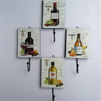 Creative Pastoral retro wood iron steel decorative rack clothing store wall bar home hotel hook hanger butterfly beauty bottles