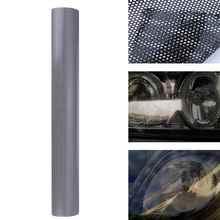 107cm * 30cm Hohl Automobil Lampe Film Grid Seite Schild AUFKLEBER SCHWARZ Scheinwerfer Rücklicht Film Waben Muster