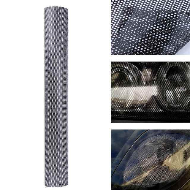 107cm * 30cm הולו רכב מנורת סרט רשת צד מגן מדבקה שחור פנס טאיליט סרט דפוס