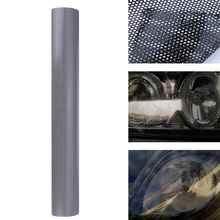 Película para lámpara de coche hueco de 107cm x 30cm pegatina de protección lateral de rejilla, película para plataforma trasera con diseño de panal, color negro