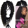 Afro Kinky Curly Synthetic Wigs for Black Women Cheap Lace Front Synthetic Wig with Baby Hair High Quality Natural Hairline Wigs