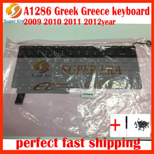 "10pcs/lot A1286 Greek Greece keyboard clavier for macbook pro 15"" A1286 keyboard Greek Greece 2009-2012year"