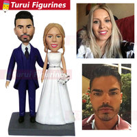 cake topper wedding cake topper bride and groom figurines custom bobblehead dolls figurines mini statue cake decorations gifts