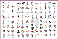 temporary tattoo sticker Temporary Airbrush Stencils For Body Art Paint Makeup Cosmetics 100 Designs tattoo supplies