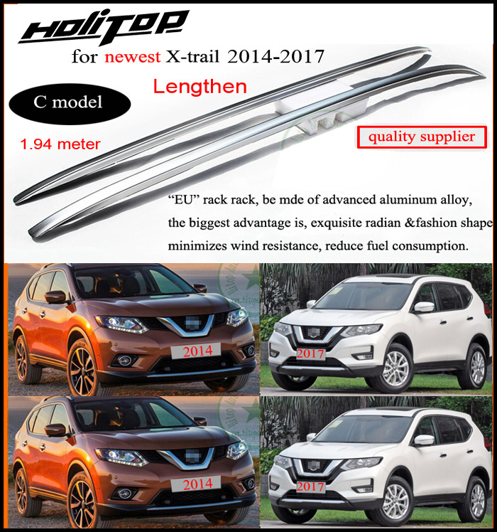 roof rail roof rack bar for Nissan X trail Rogue 2014 2018 best aluminum alloy three