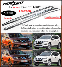 2014 2015 X-trail roof rail/roof rack/roof bar,main material aluminum alloy,three models for your choice, fix by screw or glue