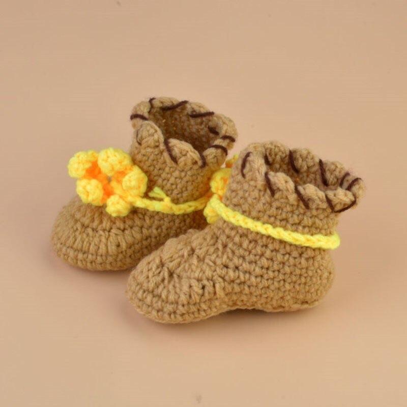 Newest Baby Boy Cowboy Photography Set Knit Crochet Cowboy Hat