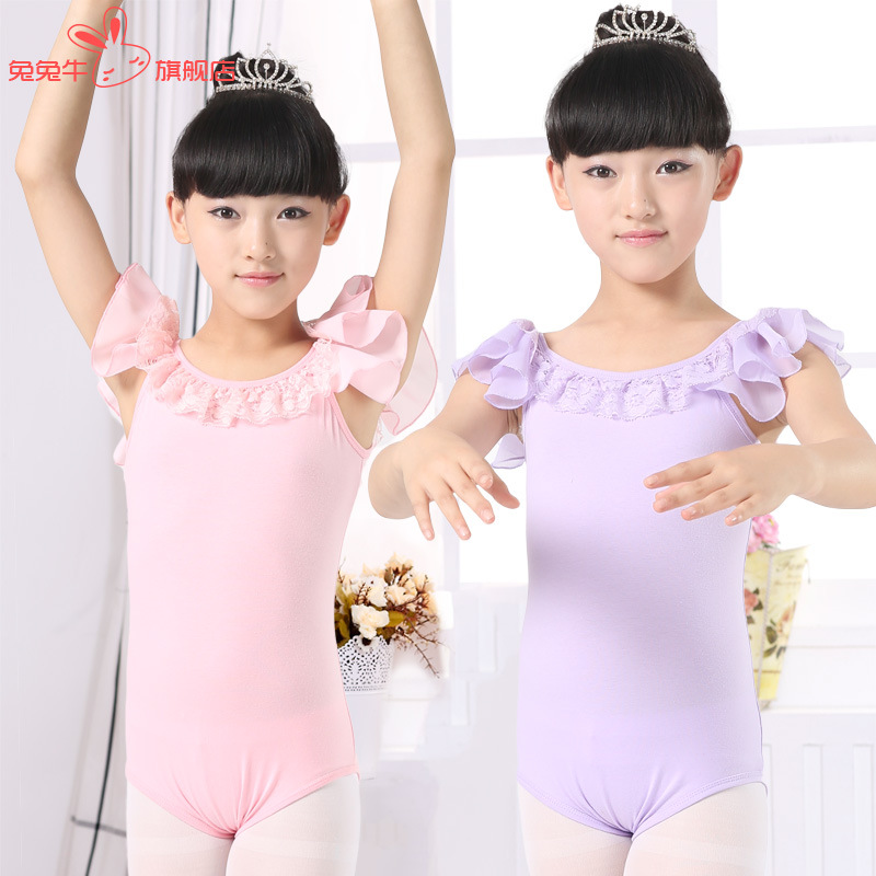 Ballet Leotard Gymnastics Leotard For Girls Kids Lace Faldas Disfraz Saia Bailarina Dancing Clothing Children Ballet Dance Wear