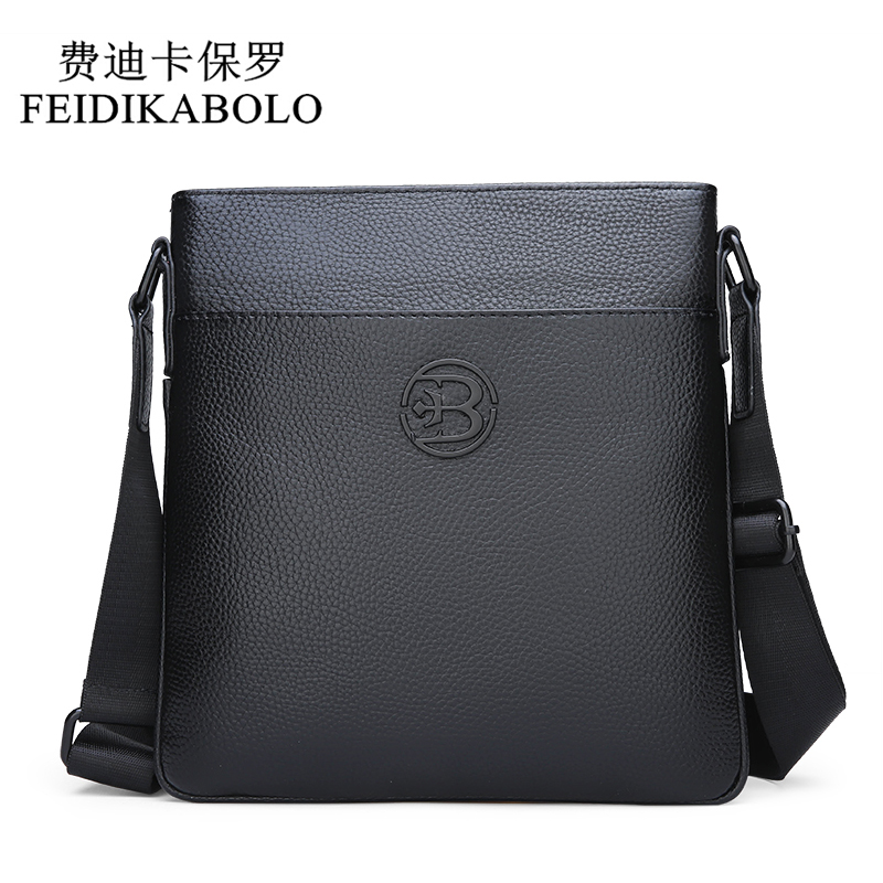 FEIDIKABOLO Genuine Leather Messenger Bags Men Shoulder bag Small male man Crossbody bags for Messenger men Leather bags HandbagFEIDIKABOLO Genuine Leather Messenger Bags Men Shoulder bag Small male man Crossbody bags for Messenger men Leather bags Handbag