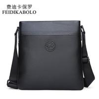 FEIDIKABOLO Genuine Leather Messenger Bags Men Shoulder bag Small male man Crossbody bags for Messenger men Leather bags Handbag