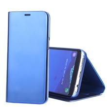 Для samsung galaxy s8 case роскошные зеркало flip leather case for samsung galaxy s8 плюс case телефон мешки 2017 покрытие задней крышки