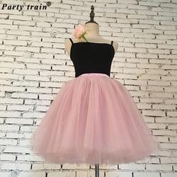 Skirts Womens 7 Layers Midi Tulle Skirt American Apparel Tutu Skirts Women Ball Gown Party Petticoat 2018 Lolita Faldas Saia