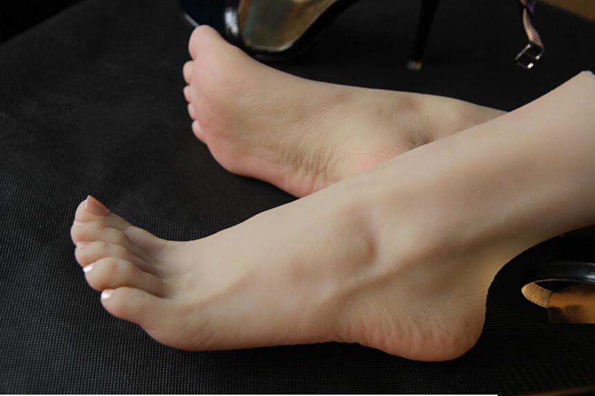 Poupées de sexe réel japonais taille réelle pieds en silicone-faux pieds jouet de pied réaliste beau modèle sexy, jouets sexuels de pied - 4