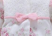 100% Cotton Newborn Baby Romper with Flowers & Hat