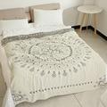 Junwell 100% хлопок муслин летнее одеяло кровать диван путешествия дышащий шик Мандала большой мягкий пледы одеяло Para