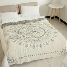 Junwell 100% Cotton Muslin Summer Blanket Bed Sofa Travel Breathable Chic Mandala Large Soft Throw Blanket Para Blanket - DISCOUNT ITEM  12% OFF All Category