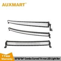 Auxmart 32 52 54 изогнутый СВЕТОДИОДНЫЙ световой бар 5D 300 Вт 500 Вт 520 Вт внедорожный светодиодный светильник светодиодный рабочий комбо для вожден