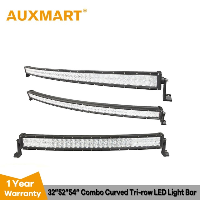 Us 101 14 15 Off Auxmart 32 52 54 Curved Led Light Bar 5d 300w 500w 520w Offroad Led Work Light Lamp Led Working Combo Driving Truck Suv Atv 4x4 In