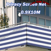 Factory direct sales Striped Blue white privacy screen net awning fence for Deck Patio Balcony Porch 0.9X10M