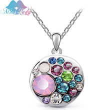 Miss Lady  Gold color Crystal ethnic jewelry multicolor statement  collar Pendant  fashion necklaces for women MLY5130