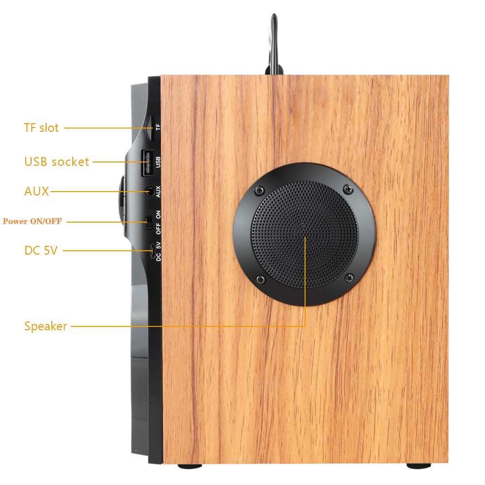 TOPROAD przenośny głośnik bluetooth bezprzewodowy subwoofer stereo kolacja głośniki basowe Boombox głośnik obsługa radia fm TF AUX USB