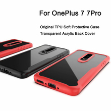 Original Case for OnePlus 7 Pro Case Anti-knock Transparent Acrylic Reinforced Corner TPU Soft Silicone Cover for OnePlus 7 PRO