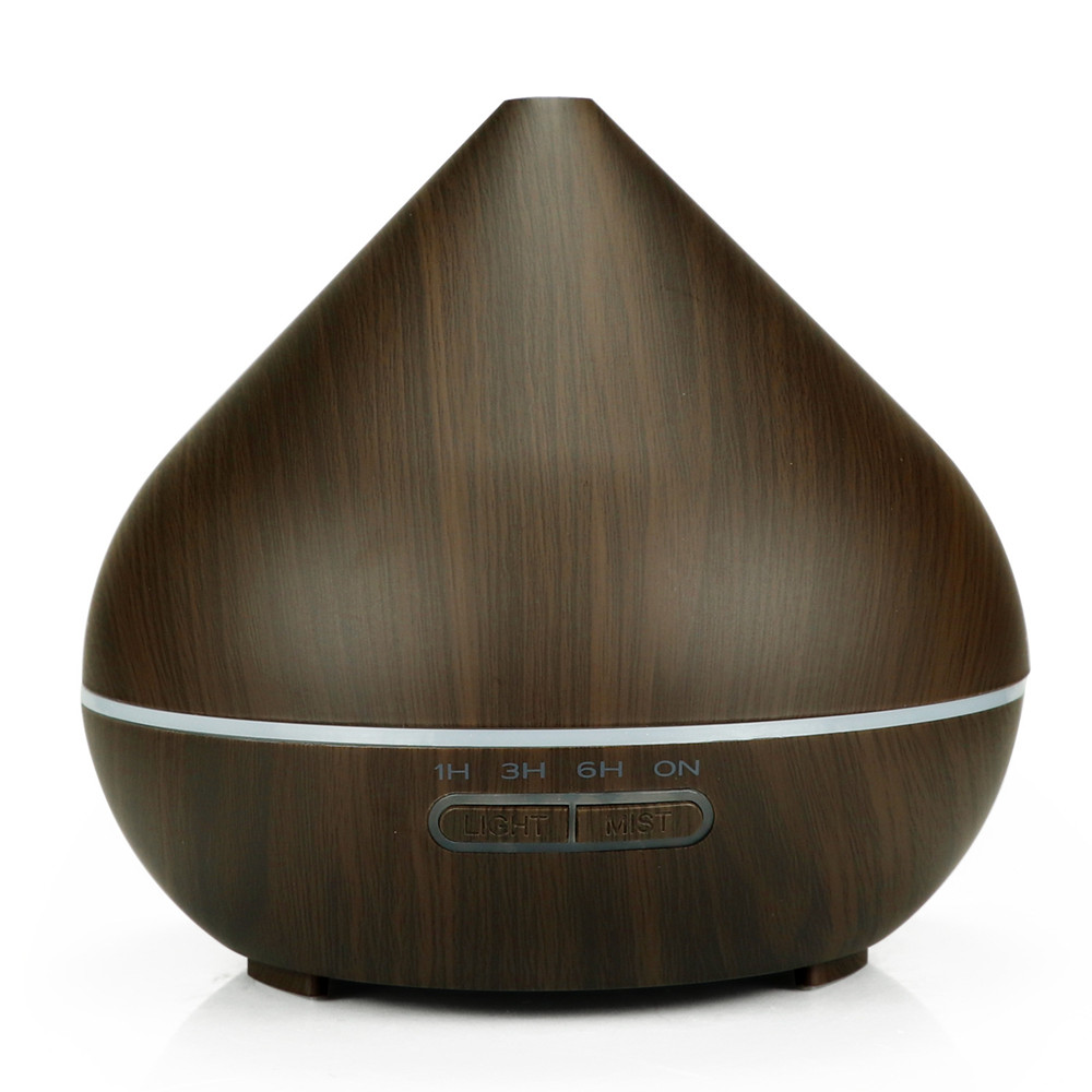 aroma Essential Oil diffuser 400ml air humidifier ultrasonic 7 Color Changing LED Lights Aromatherapy machine with Wood Grain