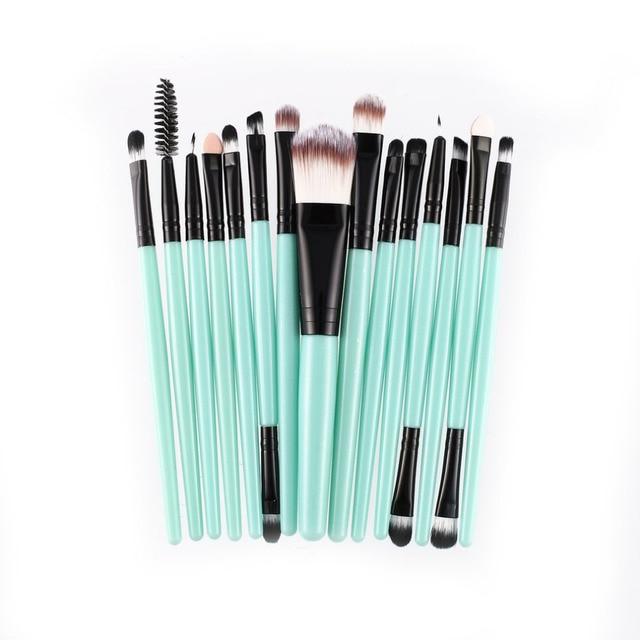 15pcs/set Makeup Brushes Sets Kit Eyelash Lip Foundation Powder Eye Shadow Brow Eyeliner Cosmetic Make Up Brush Beauty Tool 1