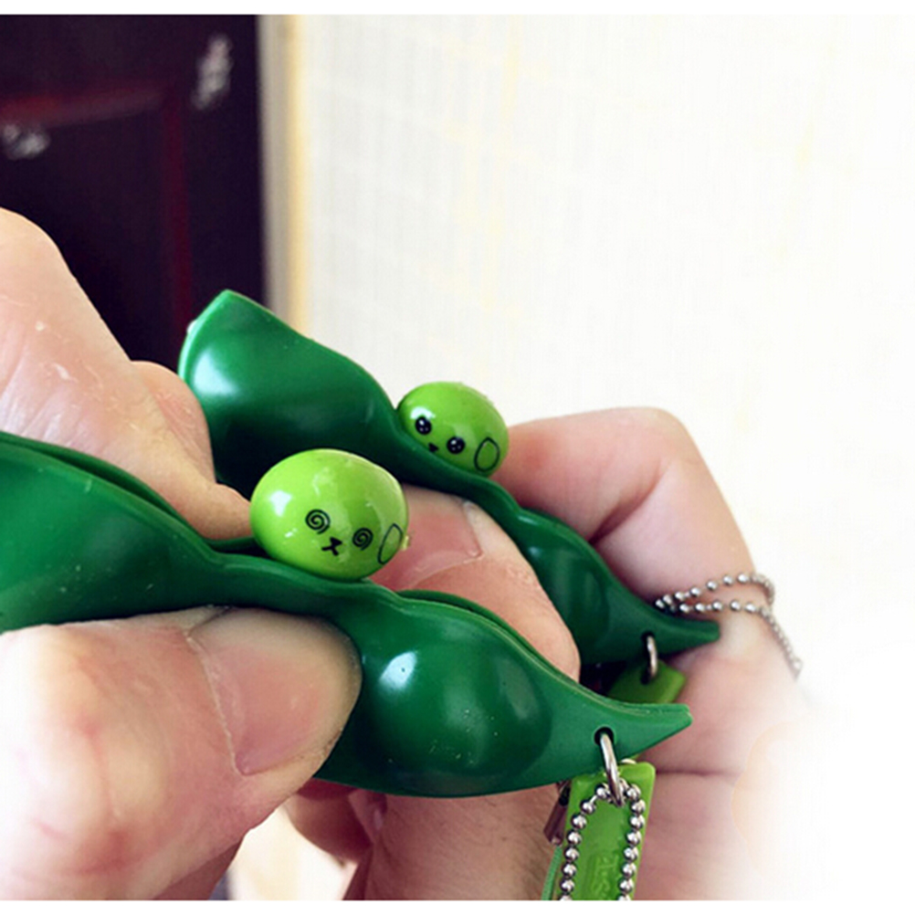 Simply squeeze those peas right out Fun Beans Squishy slime toys Pendants Anti Stress Ball Squeeze Funny Gadgets slime toys