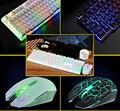 7 LED Цвет Подсветки Игровой Клавиатуры USB Проводная + Мышь Для Pro Gamer Компьютерных Мышей