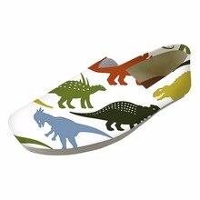 Animal dinosaurio y dragón impreso mujeres slip on Low Top zapatos de lona señoras zapatos de dibujos animados para adolescentes zapatos mujer Vintage