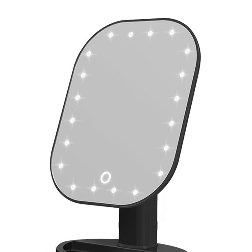 1 шт., светодиодный сенсорный экран, зеркало для макияжа, косметическое зеркало, косметическое зеркало для рук, для спальни, дома, без батареи
