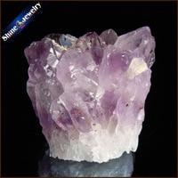 123 g Natural Stone Purple Raw Amethysts Druzy Drusy Elestial Skeletal Quartz Crystal Cluster Specimen Fit Jewelry Making JS104