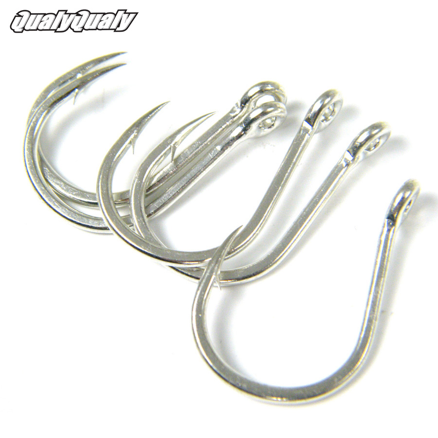 2 Packs Fishing hook Big Eye UP Hooks Crank hook Saltwater Jigging Fishing Hooks 9985 #3/0 #6/0 #7/0 #9/0 Jig Fishhooks Tackle