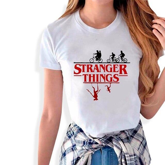 fc7115d4d214 Stranger Things Tee Hipster Shirts Graphic T-shirt Women Men Letter Print T  Shirt Fashion