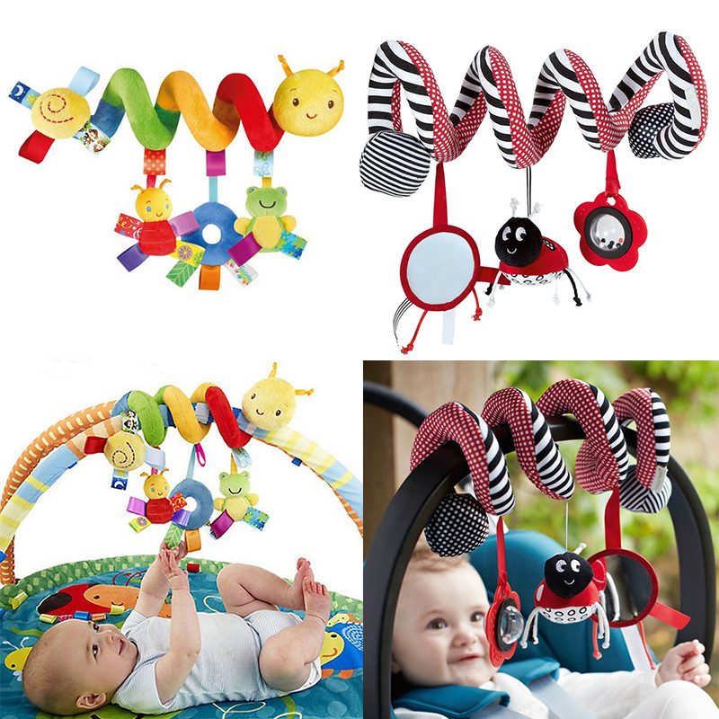 Baby Rattles Mobiles Educational Toys For Children Teether Toddlers Bed Bell Baby Playing Toy Kids Stroller Hanging Dolls