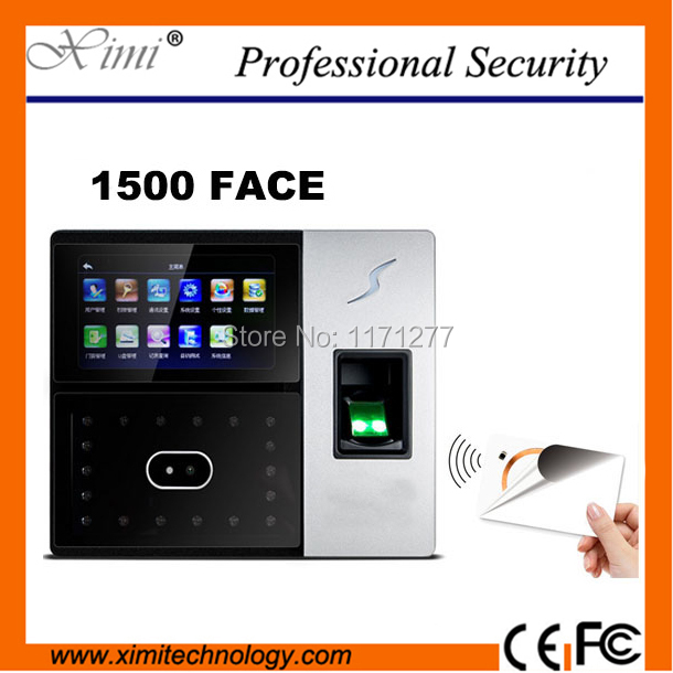 fingerprint access control 4.3 inch screen TCP/IP high speed identify infrared camera MF card reader face time attendance