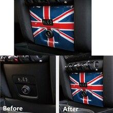 For MINI Cooper F60 Countryman Car Styling Accessories Mini Cigarette USB Lighter Panel Decorative Housing Sticker Cover