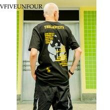 VFIVEUNFOUR Harajuku Graffiti Print Tshirts Streetwear Hip Hop Mens 2019 Summer Casual Male Short Sleeve Cotton O-Neck T Shirts